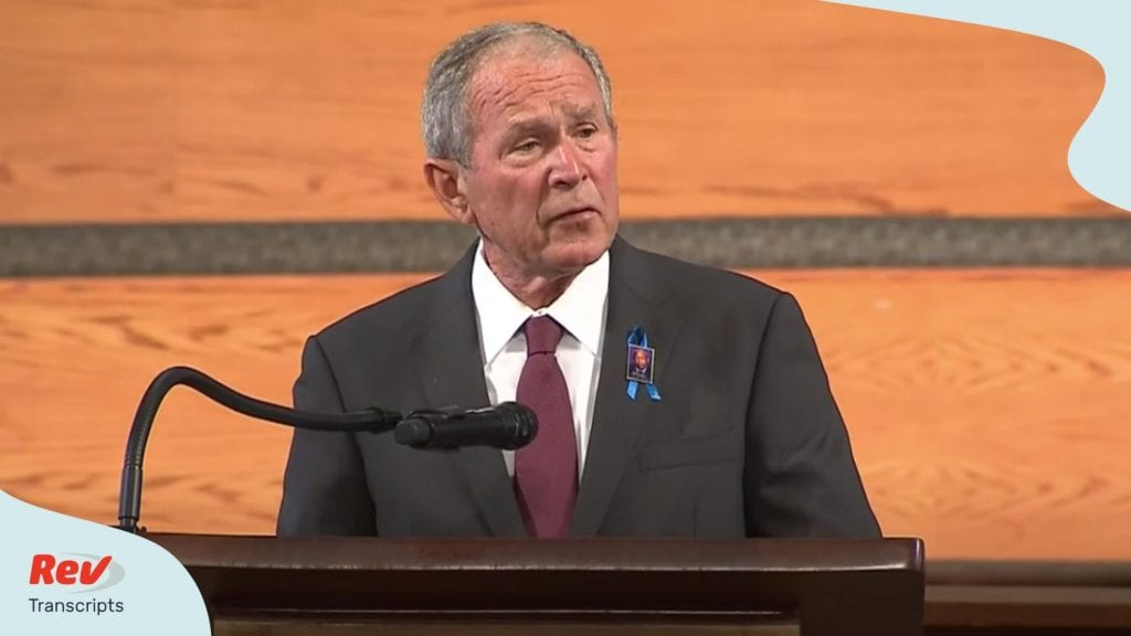 George Bush Eulogy Transcript at John Lewis Funeral July 30
