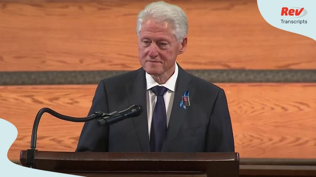 Bill Clinton Eulogy Transcript at John Lewis Funeral July 30