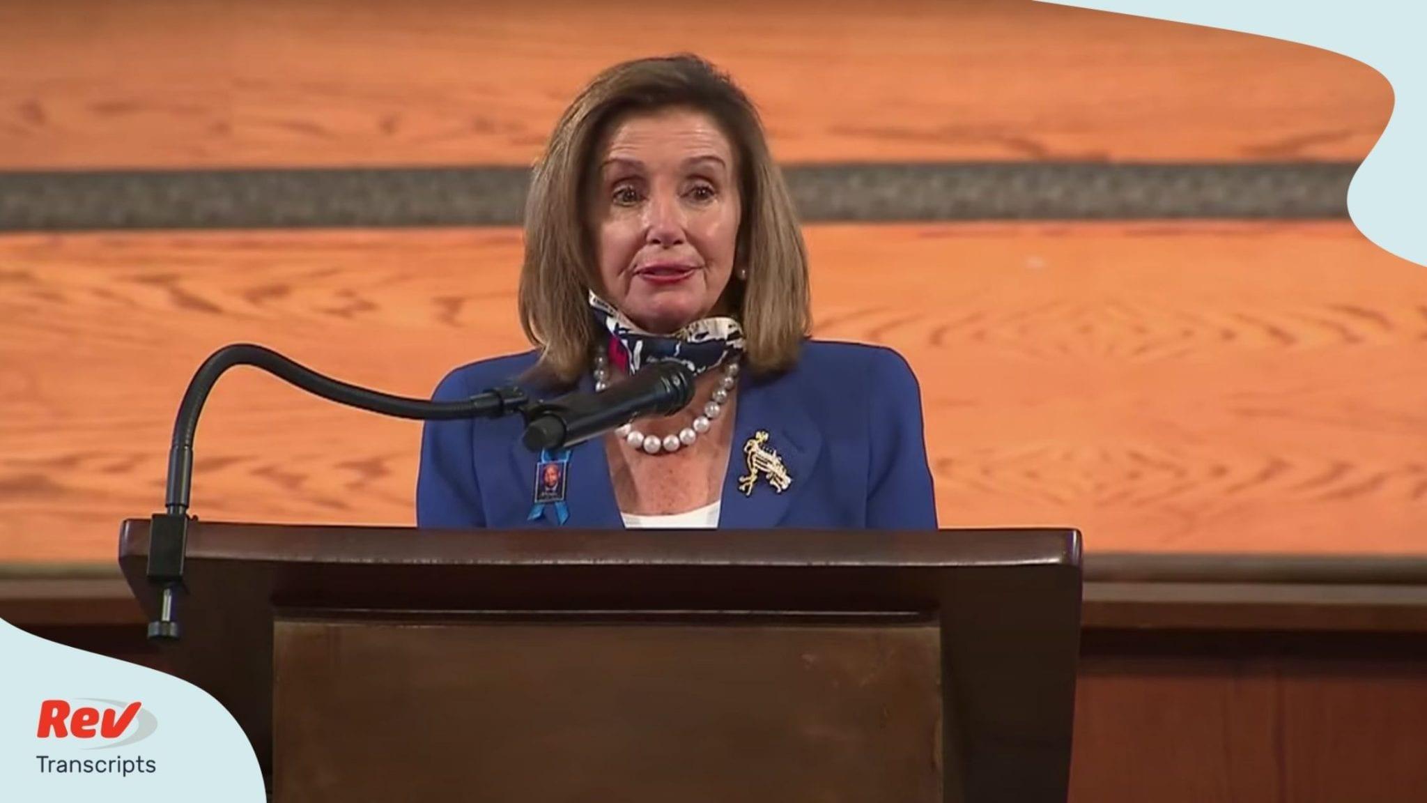 Nancy Pelosi Eulogy Transcript at John Lewis Funeral July 30
