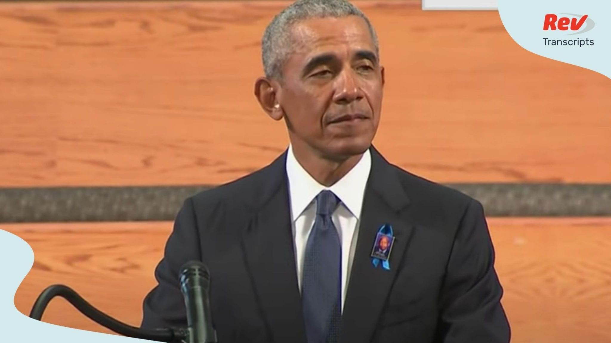 Barack Obama Eulogy Transcript at John Lewis Funeral July 30