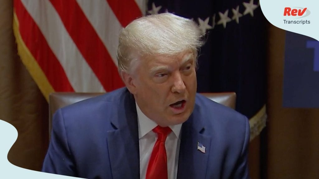 Donald Trump Meeting With Law Enforcement Leaders Transcript July 31