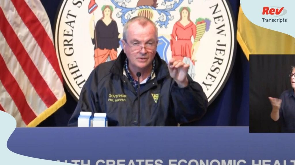 New Jersey Governor Phil Murphy Press Conference Transcript July 31