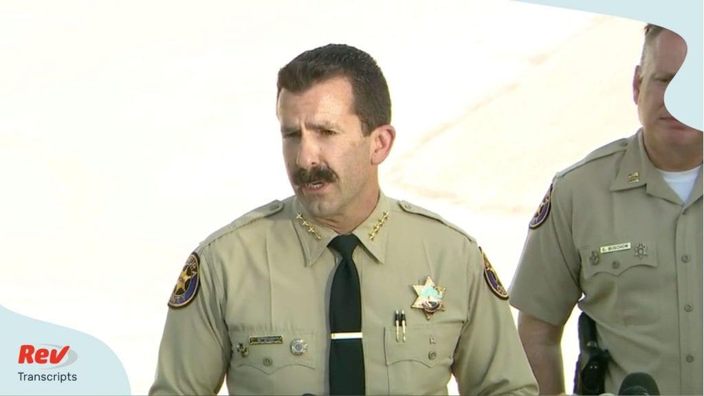 Ventura Sheriff gives press conference on death of 'Glee' actress Naya Rivera