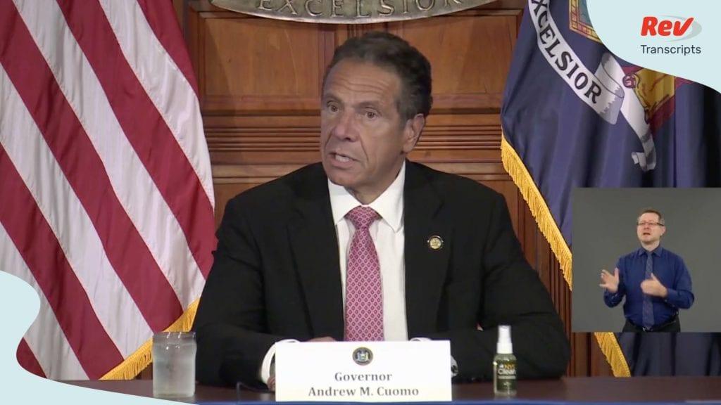 NY Governor Cuomo COVID-19 Press Conference Transcript July 24
