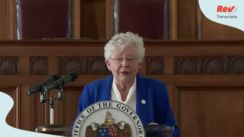 Governor Kay Ivey gave a press conference July 15
