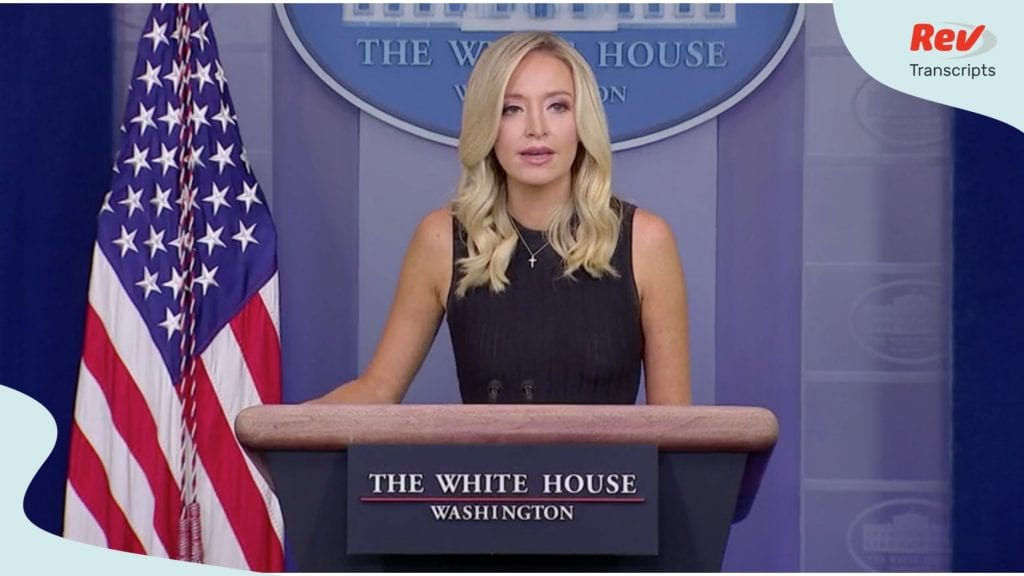 Kayleigh McEnany press conference July 21