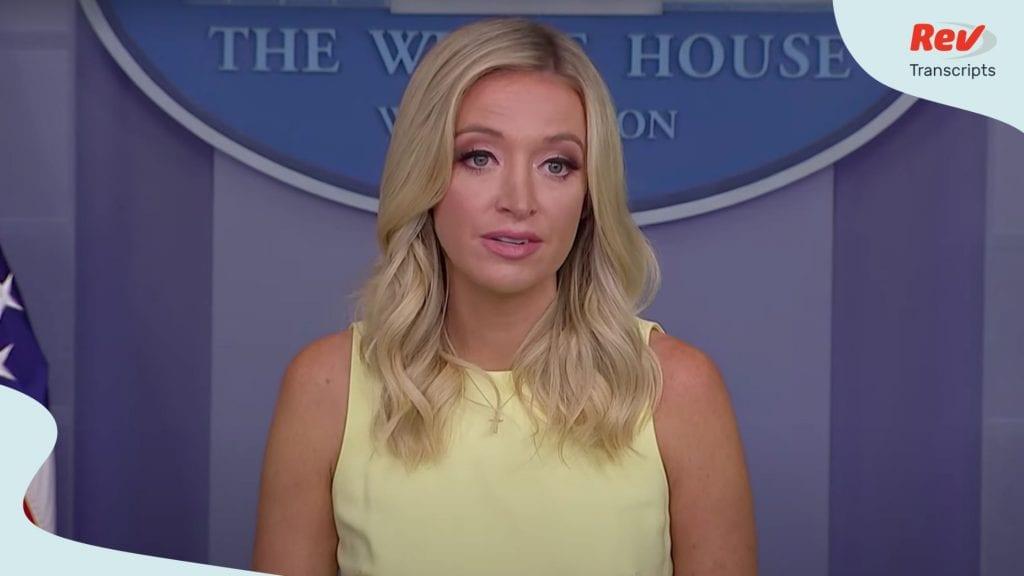 McEnany gives press briefing July 16