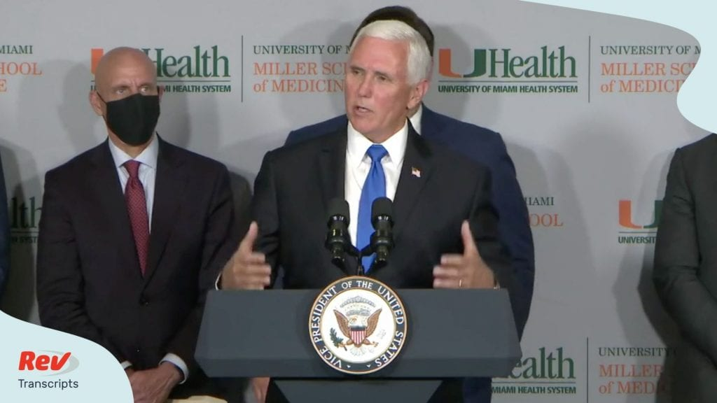 Gov. Ron DeSantis & VP Mike Pence COVID-19 Press Conference Transcript July 27