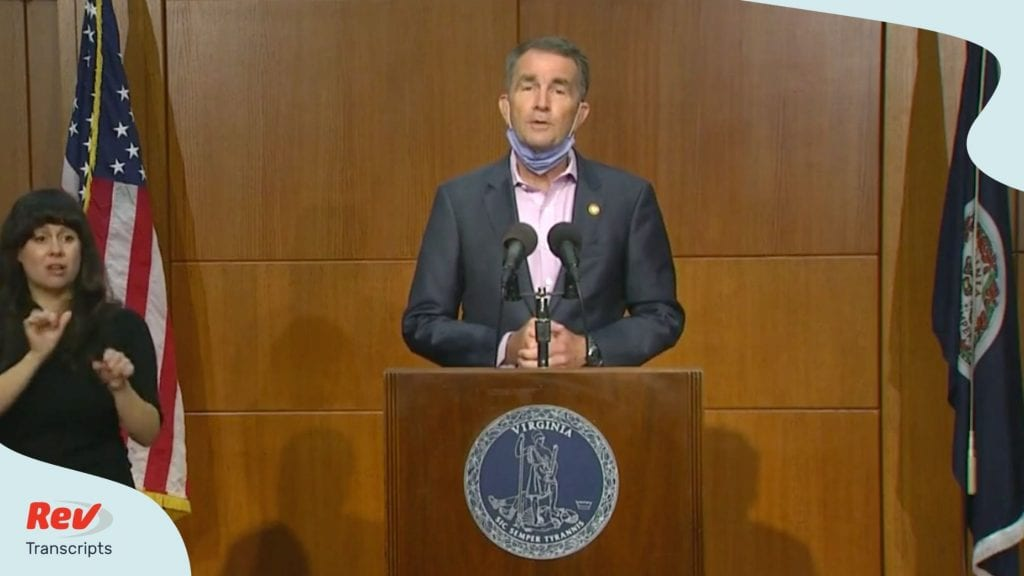 Governor Northam gives press conference July 14