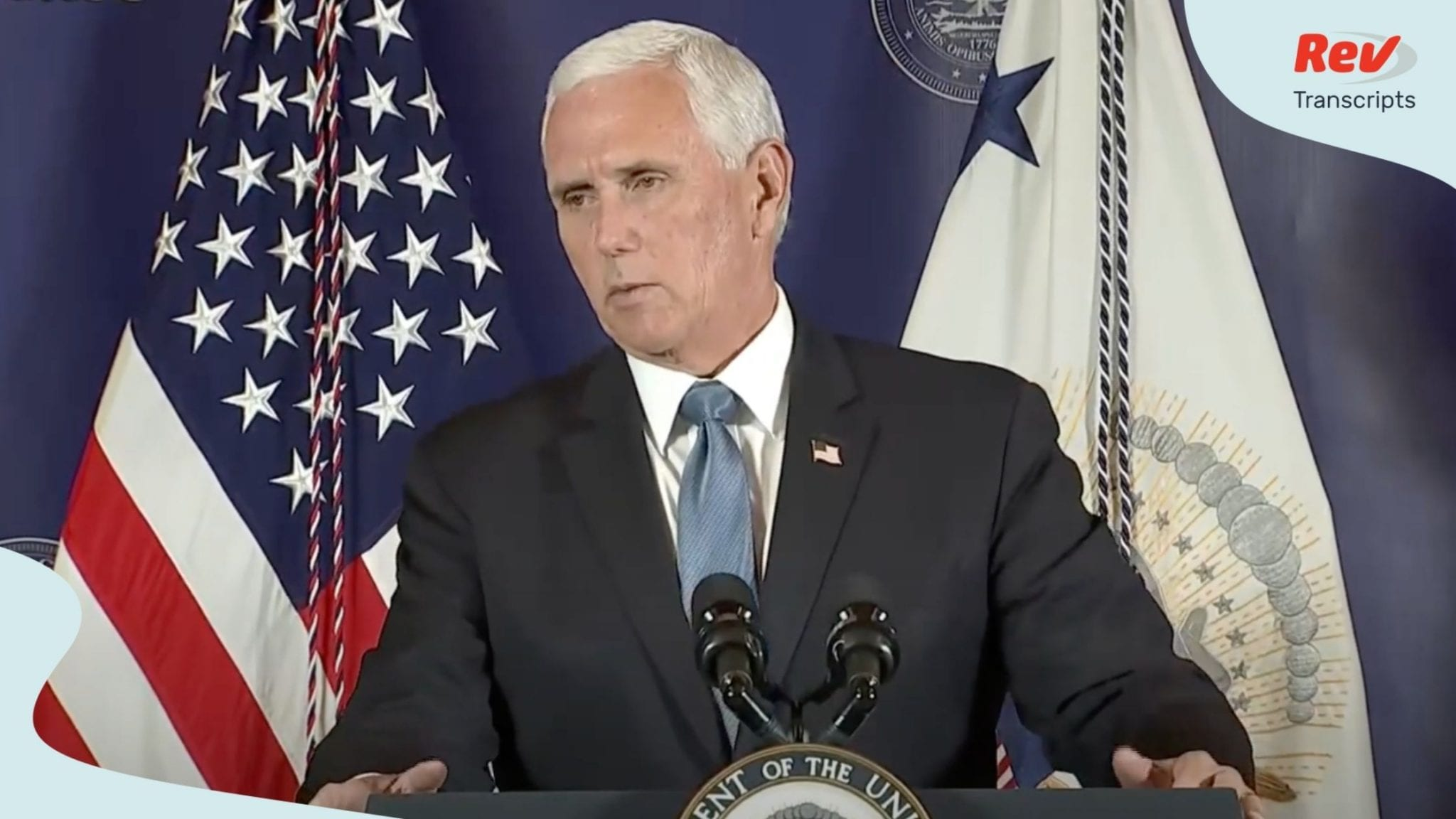 VP Pence held press conference in SC July 21
