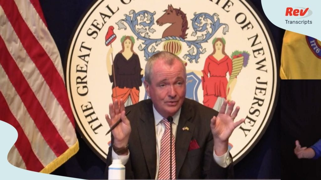 NJ Governor Murphy gave a press conference about COVID-19 on July 13