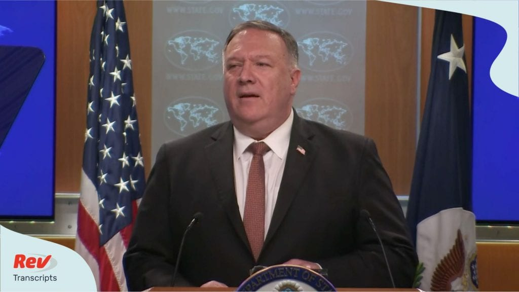 Mike Pompeo gives press conference July 15