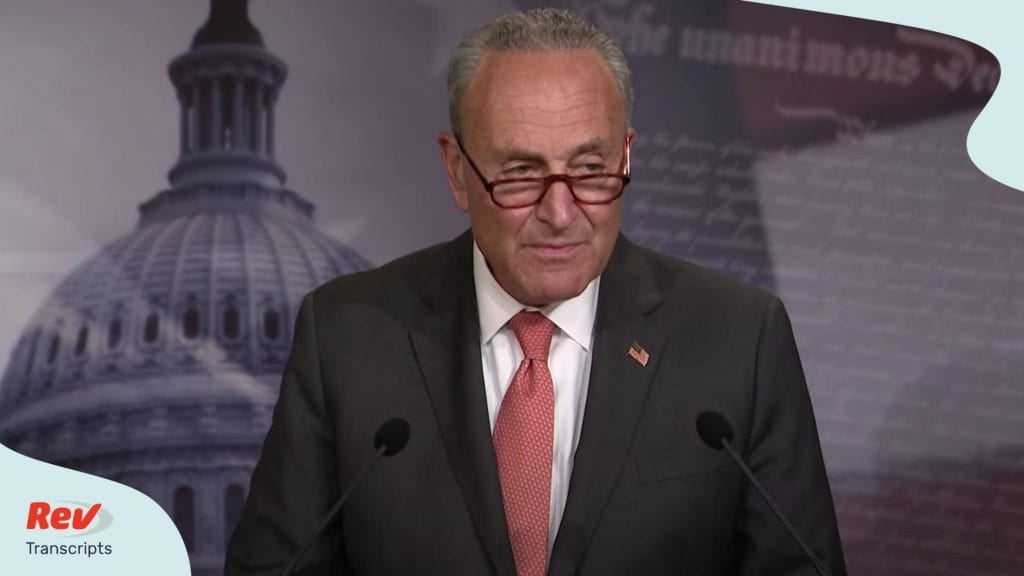 Chuck Schumer gave a press conference on July 21