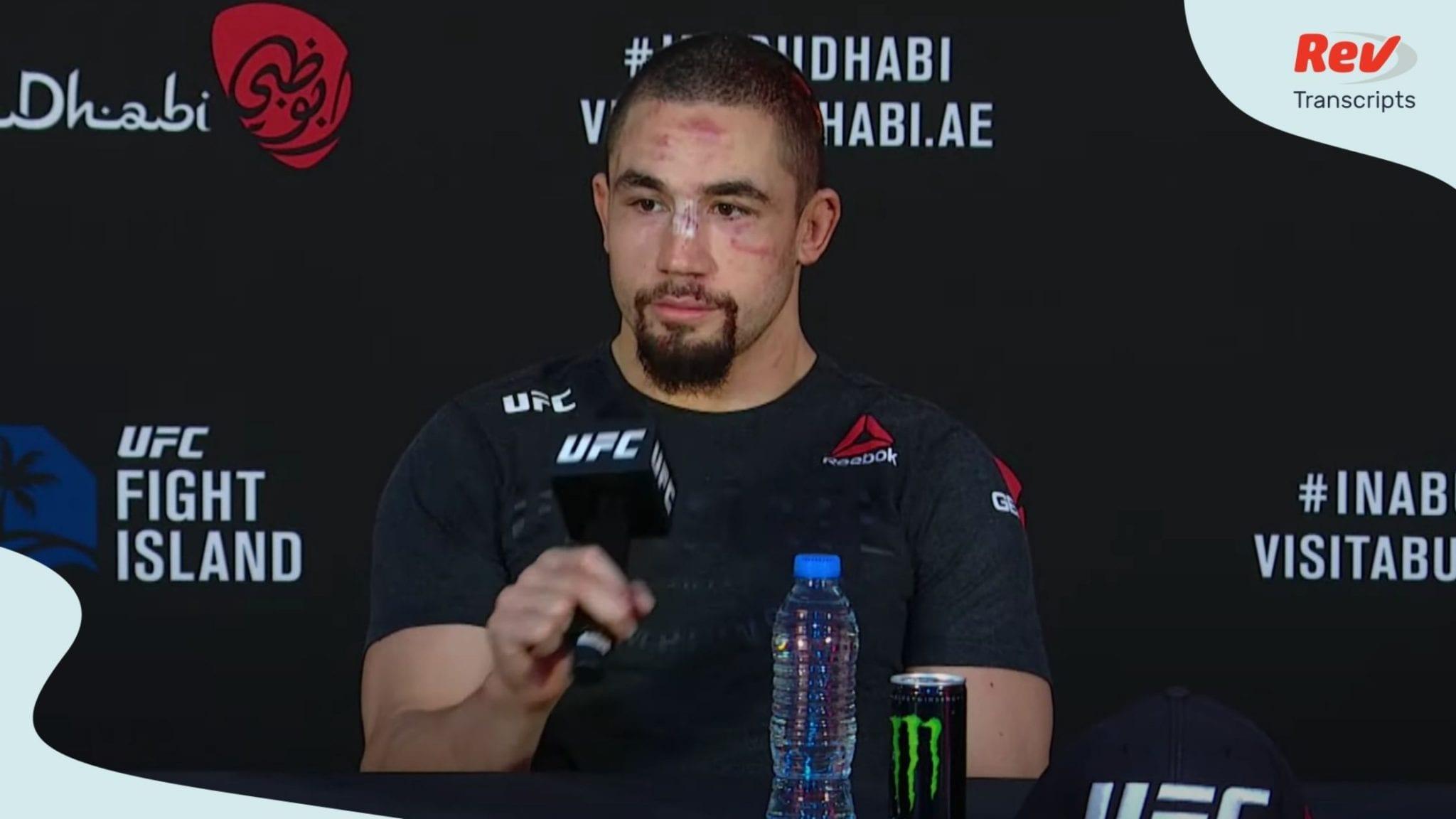UFC Fight Island 3 Press Conference Transcript: Whittaker vs. Till