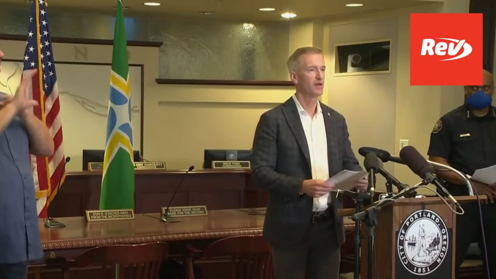 Portland Officials Mayor Wheeler on Protest Shooting