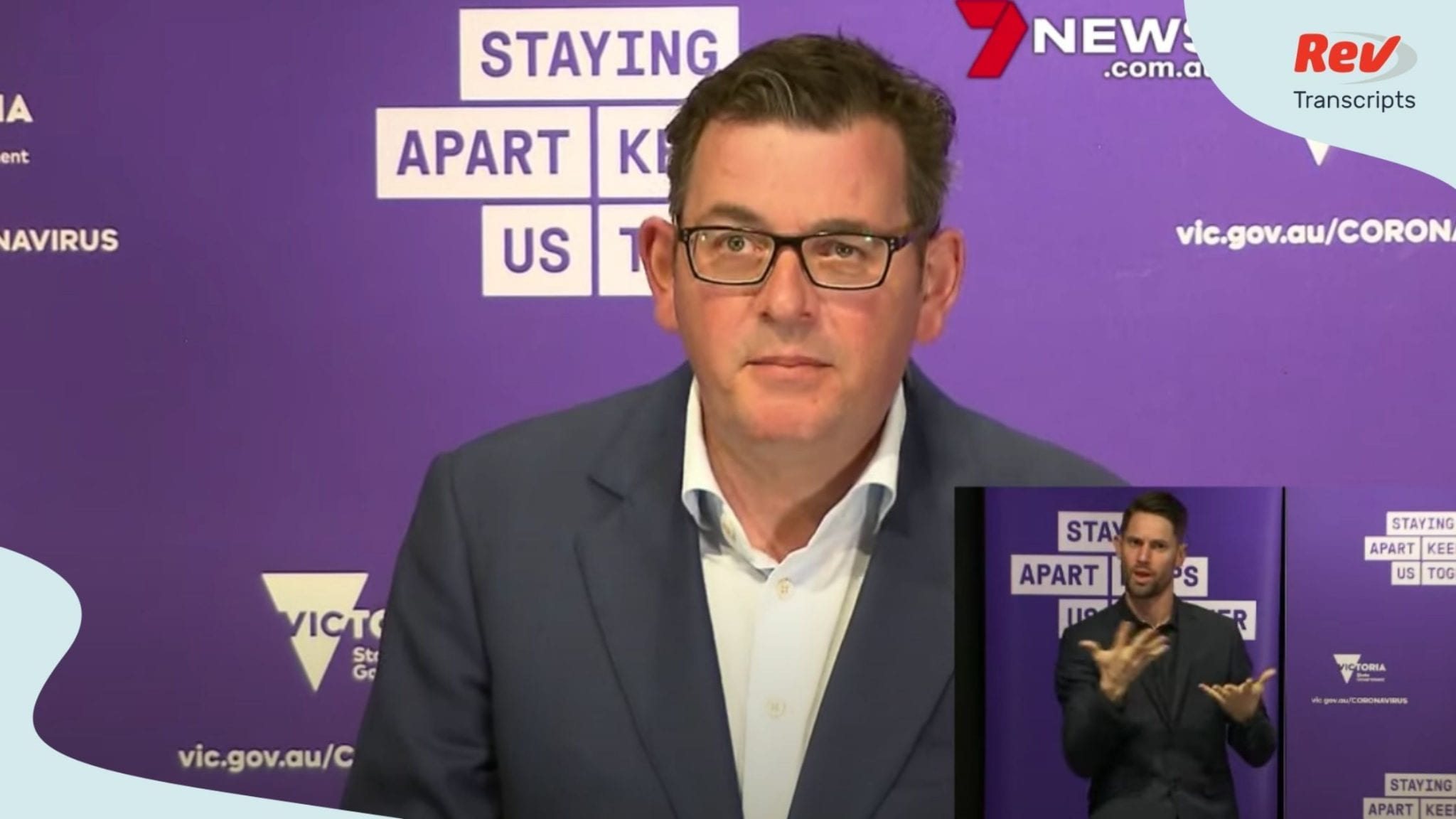 Victoria Premier Dan Andrews Press Conference Transcript August 7
