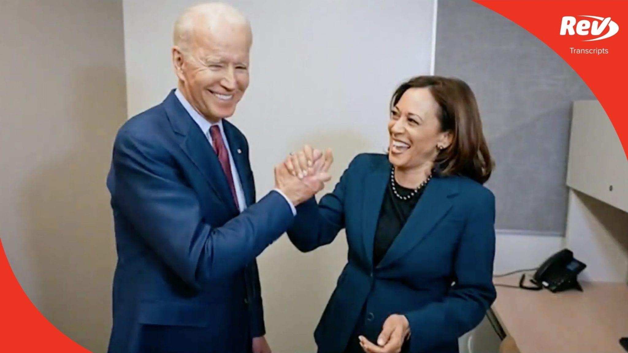 2020 Democratic National Convention (DNC) Night 4 Transcript