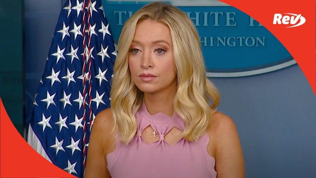 Press Secretary Kayleigh McEnany White House Press Conference Transcript August 31