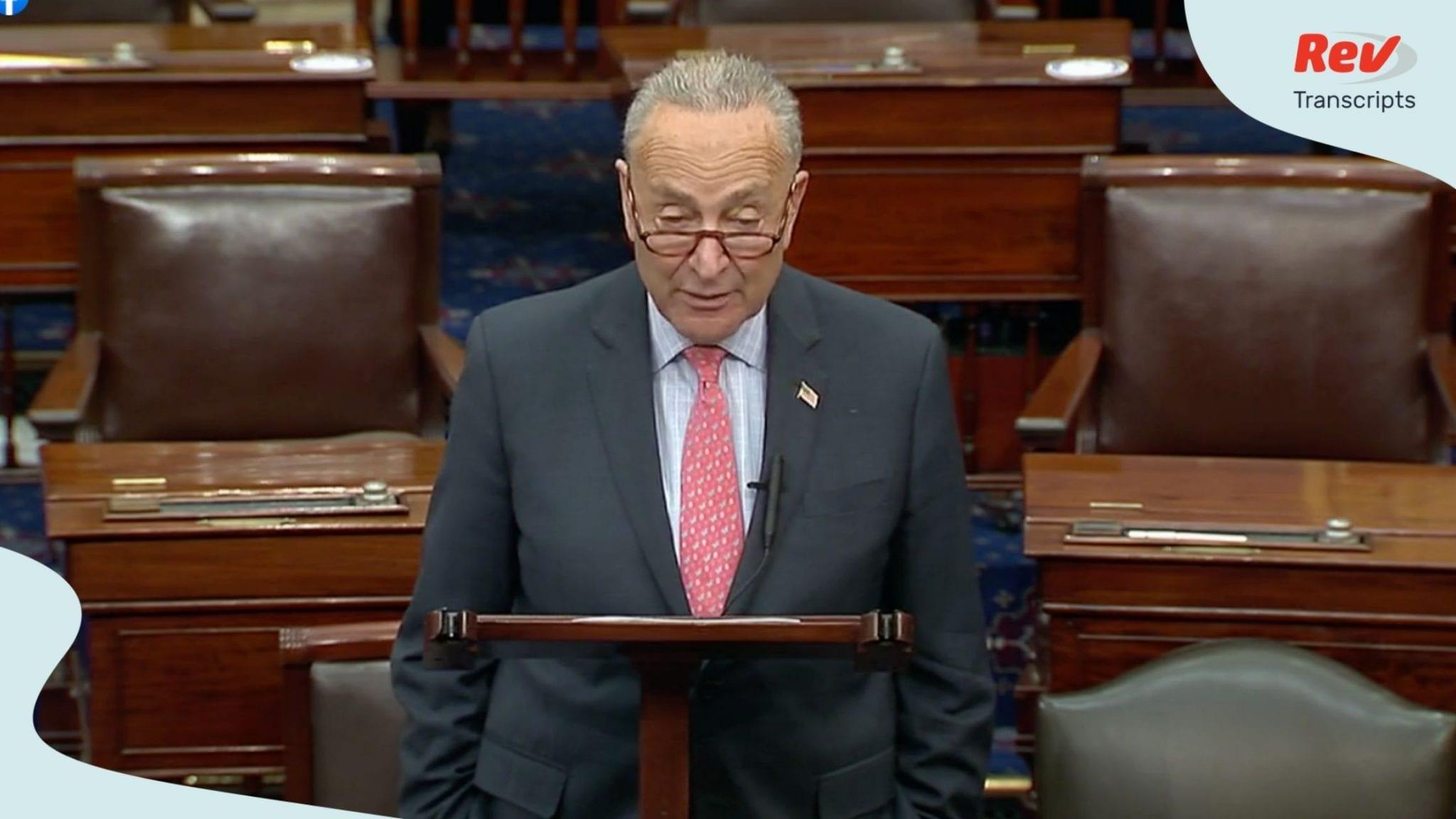 Chuck Schumer Senate Floor Speech Transcript August 11: Coronavirus & US Postal Service
