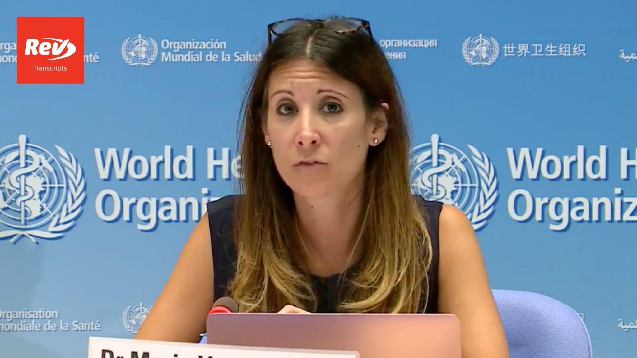 World Health Organization (WHO) Coronavirus Press Briefing Transcript August 21