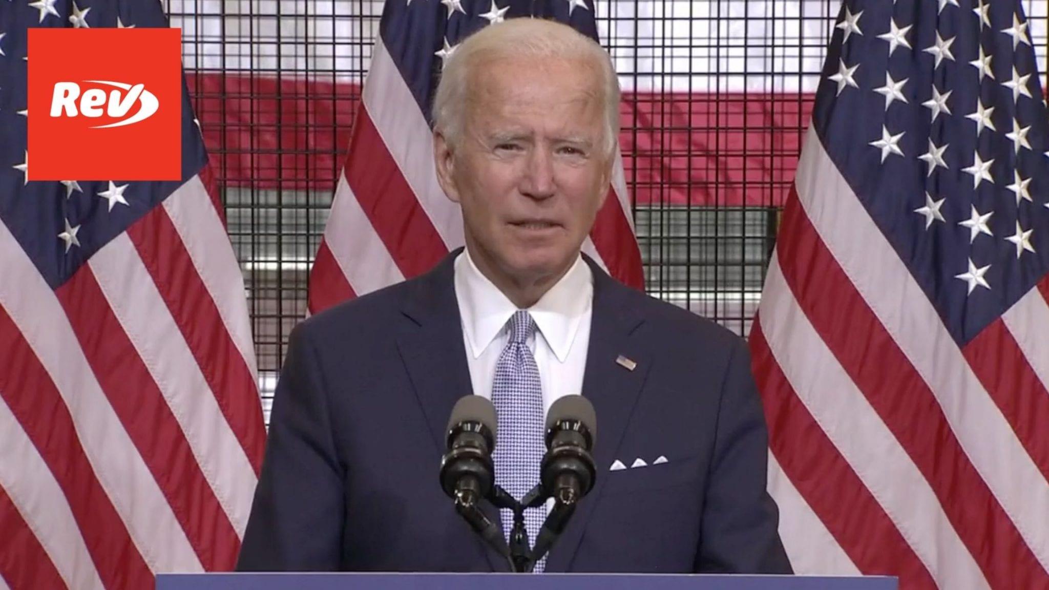 Joe Biden Pittsburgh Speech Transcript August 31