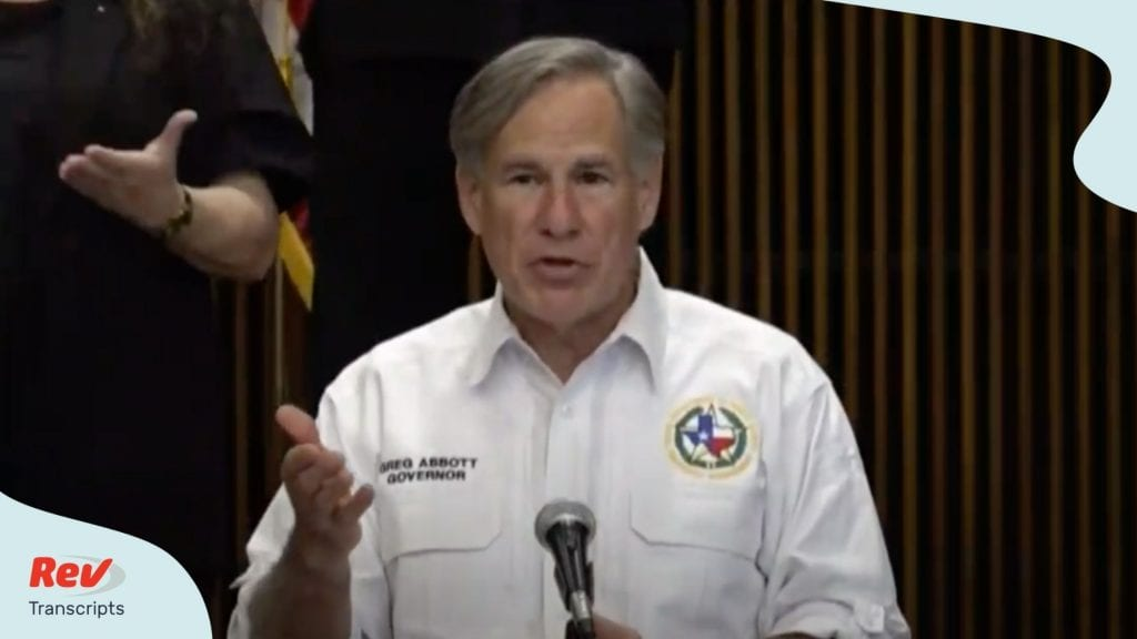 Texas Gov. Greg Abbott Press Conference Transcript August 11: Coronavirus Update