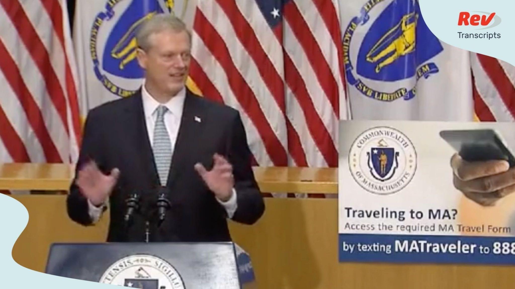 Massachusetts Governor Charlie Baker Press Conference Transcript August 11