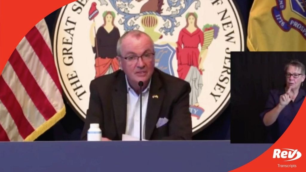New Jersey Governor Phil Murphy Press Conference Transcript August 21