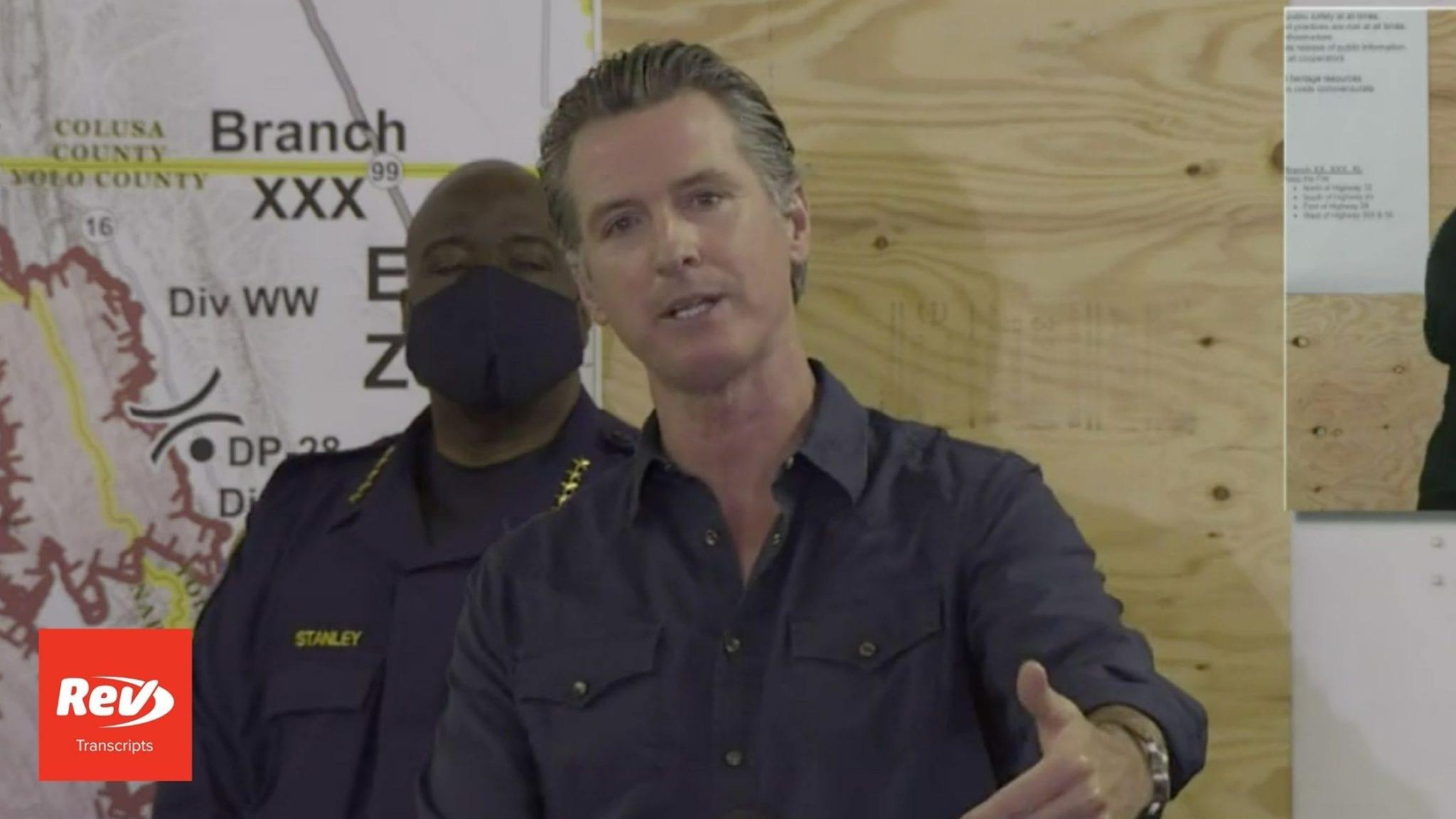 California Gov. Gavin Newsom Wildfires Press Conference Transcript August 21