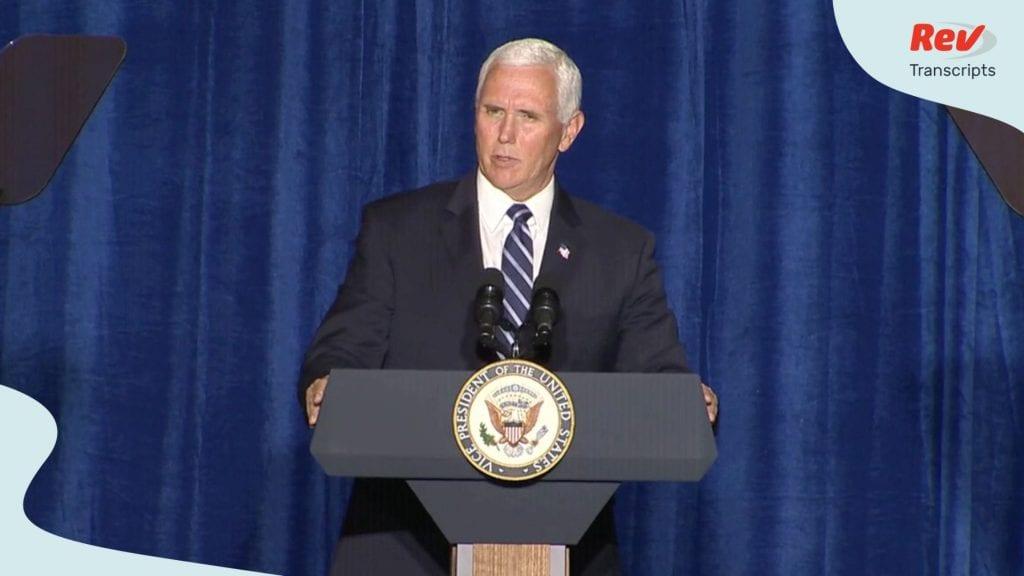 Mike Pence Speech Transcript August 11: Cops for Trump Event