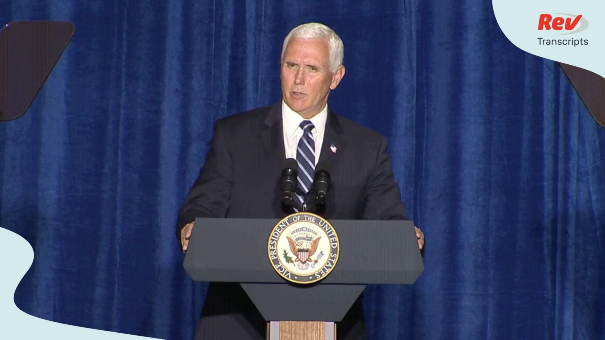 Mike Pence Speech Transcript August 11: Cops for Trump Event