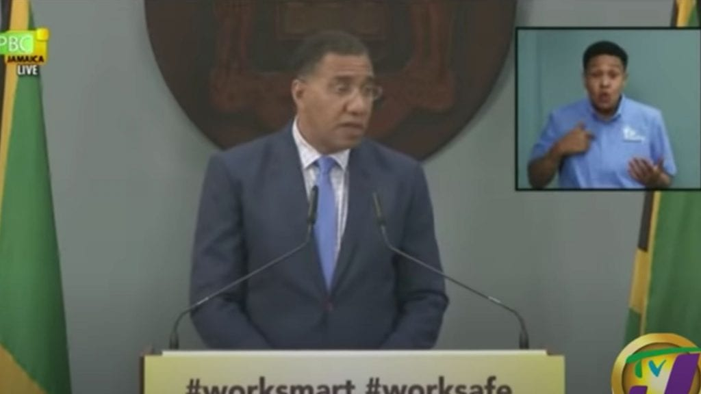 Jamaica Prime Minister Andrew Holness Press Conference Transcript August 6