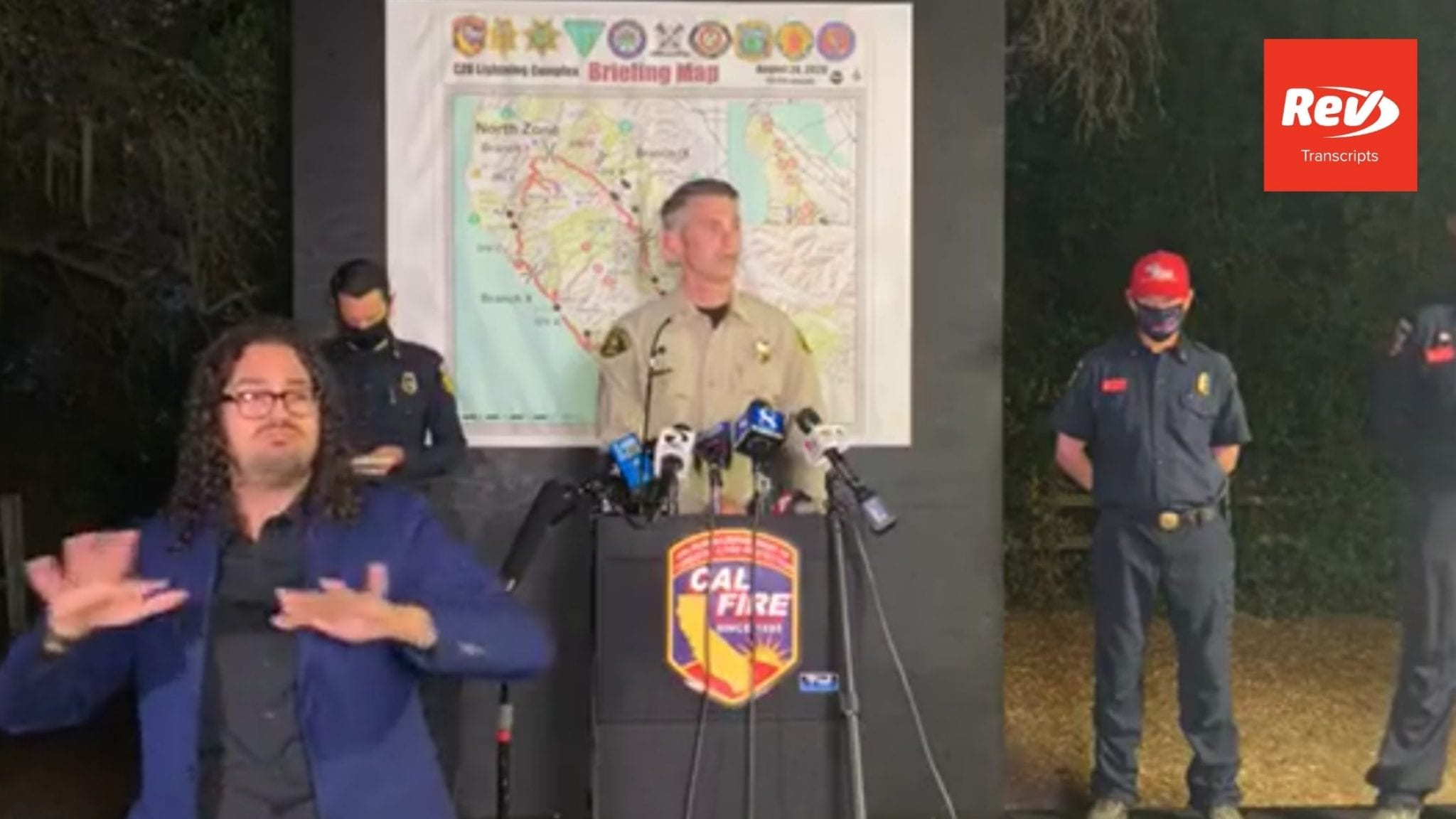 CAL FIRE Press Conference Transcript August 24: CZU Fires Update