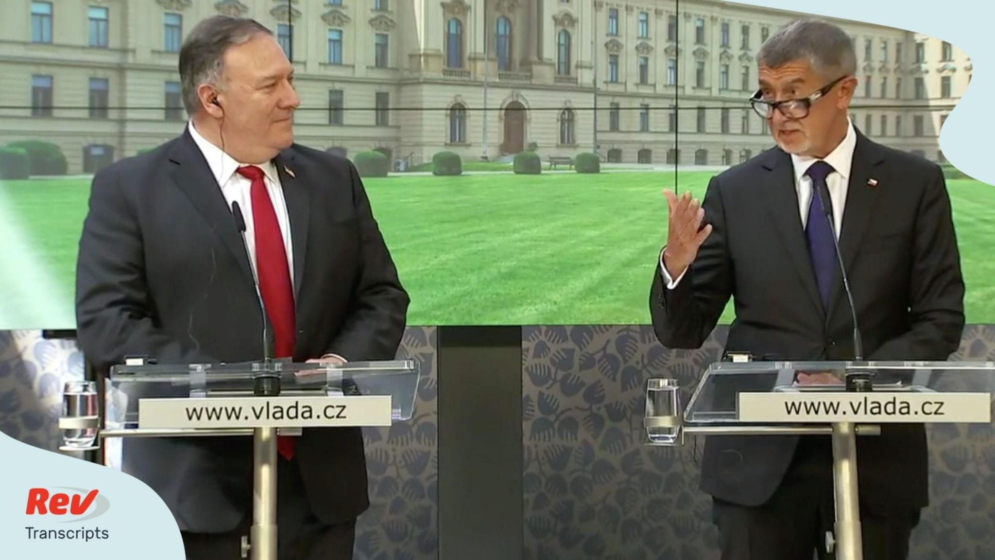 Mike Pompeo Joint Press Conference Transcript with Czech Prime Minister Andrej Babis August 12