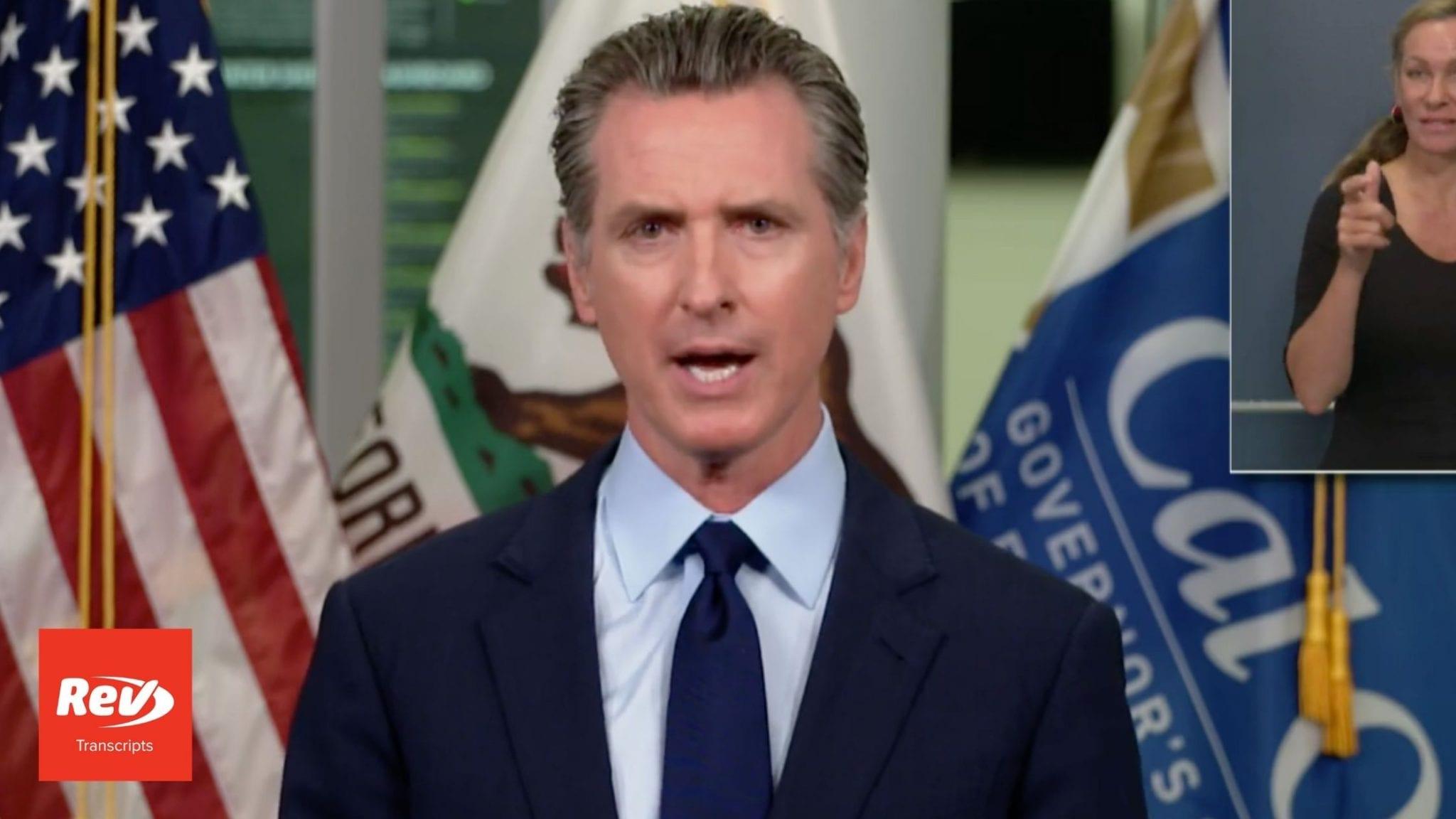 California Governor Gavin Newsom August 24 Press Conference Transcript