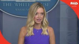 Press Secretary Kayleigh McEnany White House Press Conference Transcript August 13: Talks Israel-UAE Peace Deal