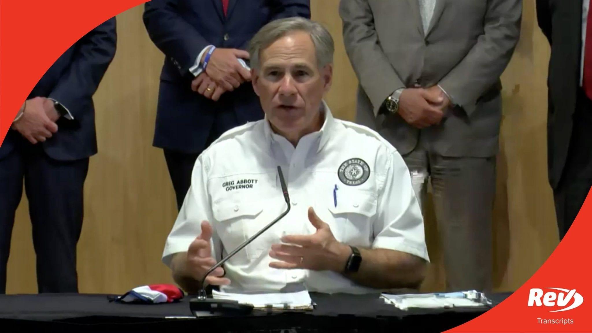 Texas Gov. Greg Abbott Press Conference Transcript August 13: Coronavirus Update