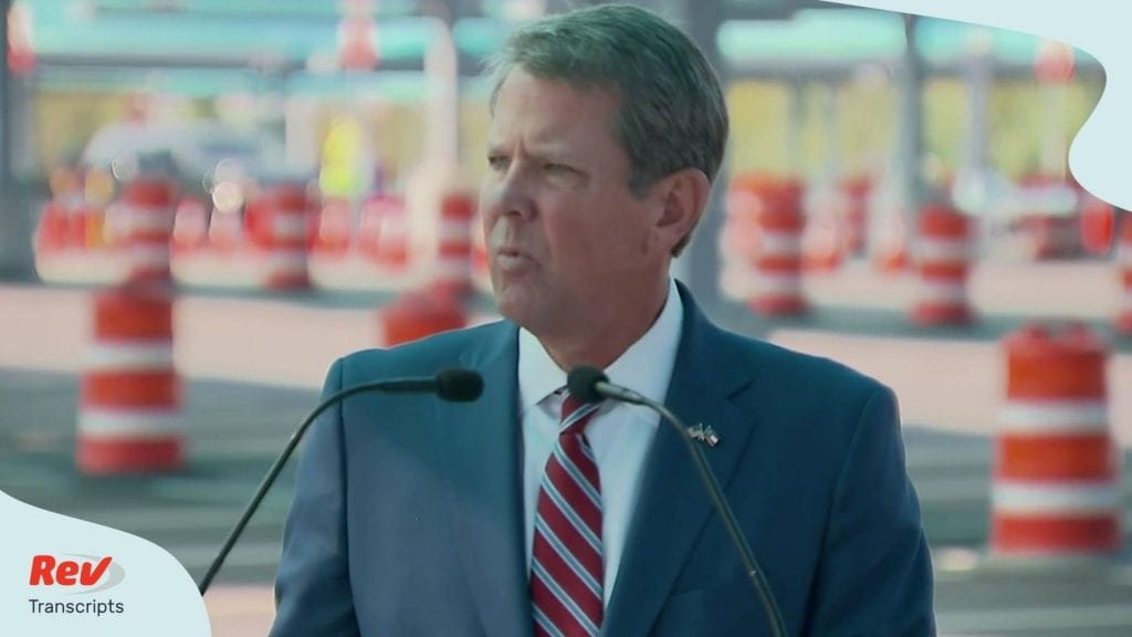 Georgia Governor Brian Kemp and US Surgeon General Jerome Adams COVID-19 Briefing Transcript August 10