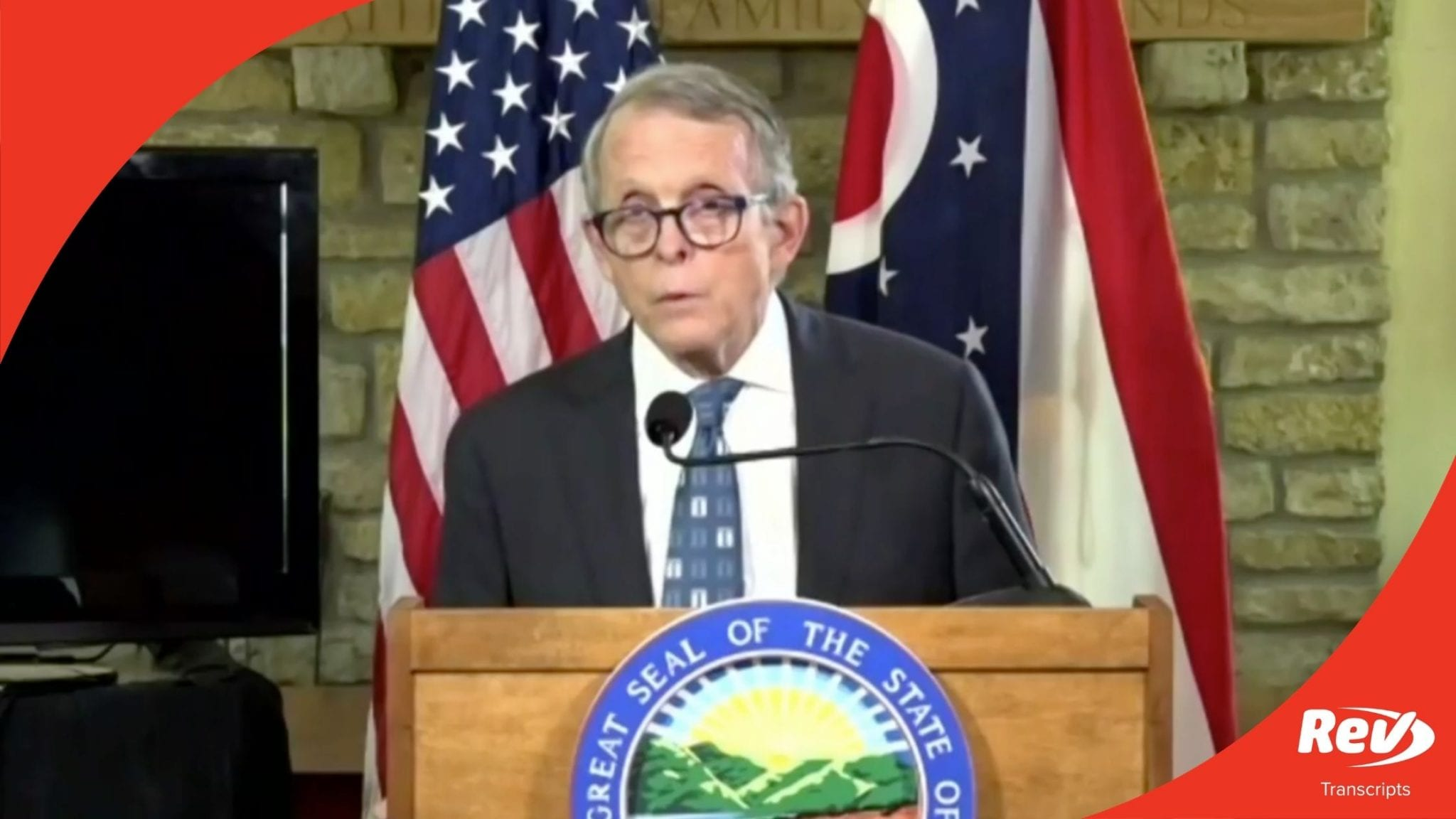 Mike DeWine Ohio Press Conference Transcript August 13
