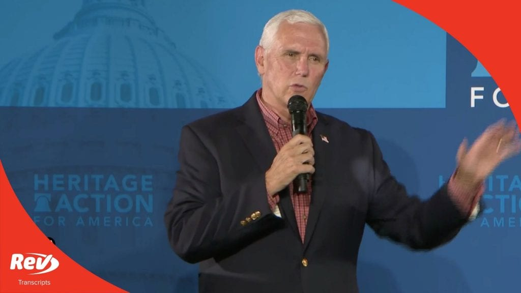 Mike Pence Speech Transcript 'Support Law Enforcement' Town Hall August 13