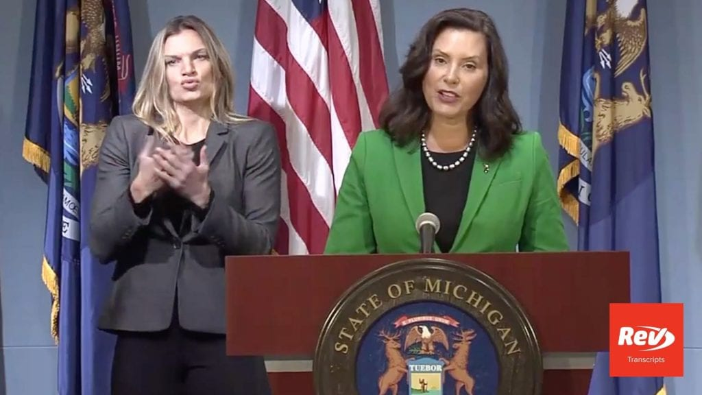 Michigan Governor Gretchen Whitmer Press Conference Transcript August 14