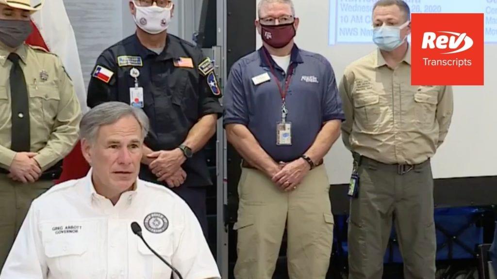 Greg Abbott Press Conference Transcript August 26: Texas Hurricane Update