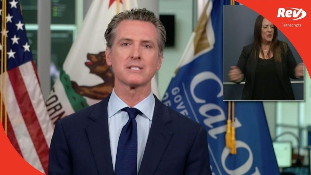 California Governor Gavin Newsom August 14 Press Conference Transcript