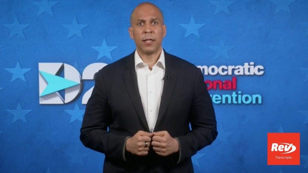 Cory Booker 2020 DNC Speech Transcript