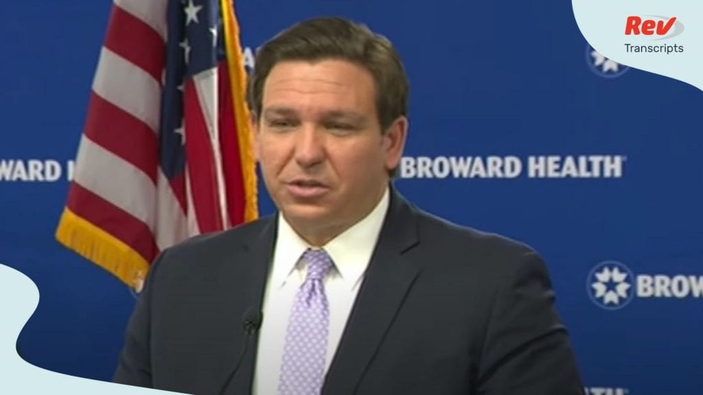 Florida Governor Ron DeSantis August 3 Press Conference Transcript