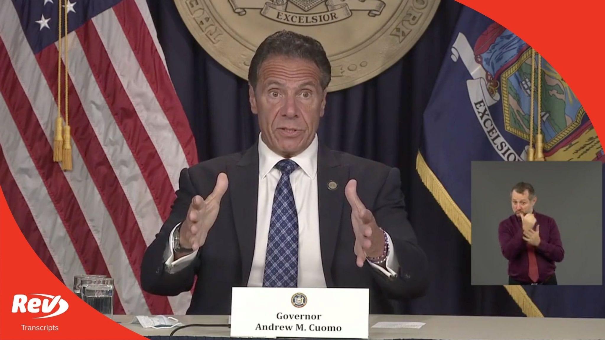 NY Governor Cuomo COVID-19 Press Conference Transcript August 17