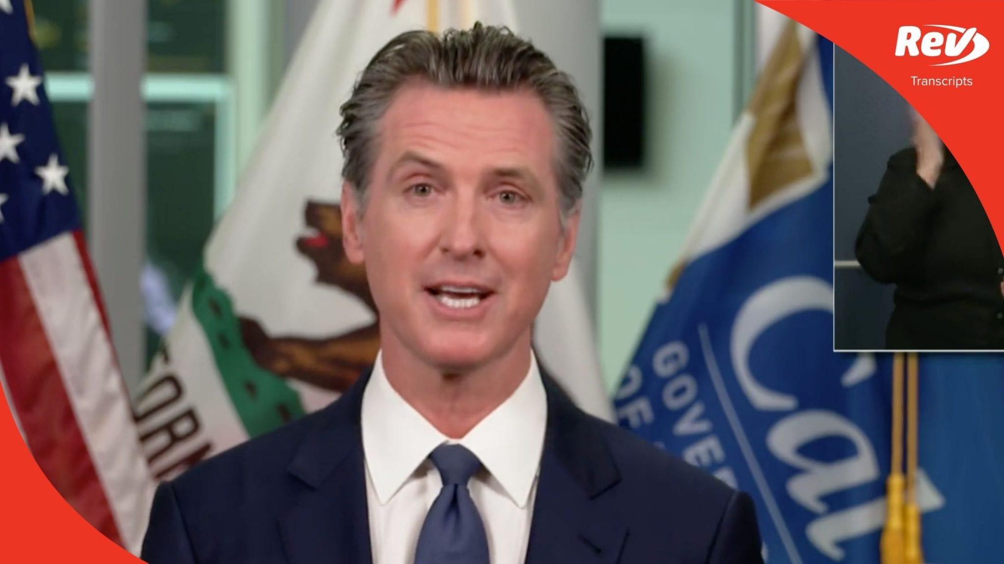 California Governor Gavin Newsom August 17 Press Conference Transcript