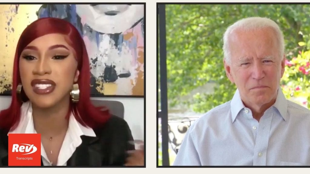 Cardi B Interviews Joe Biden Transcript