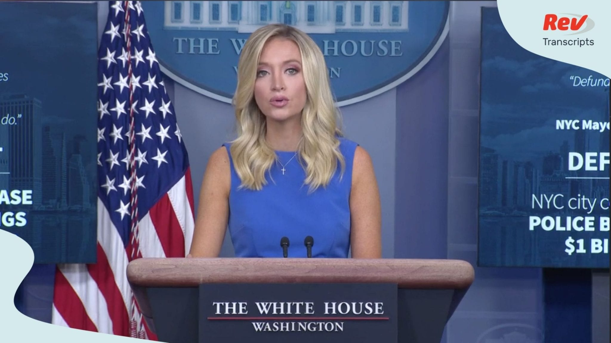 Press Secretary Kayleigh McEnany White House Press Conference Transcript August 4