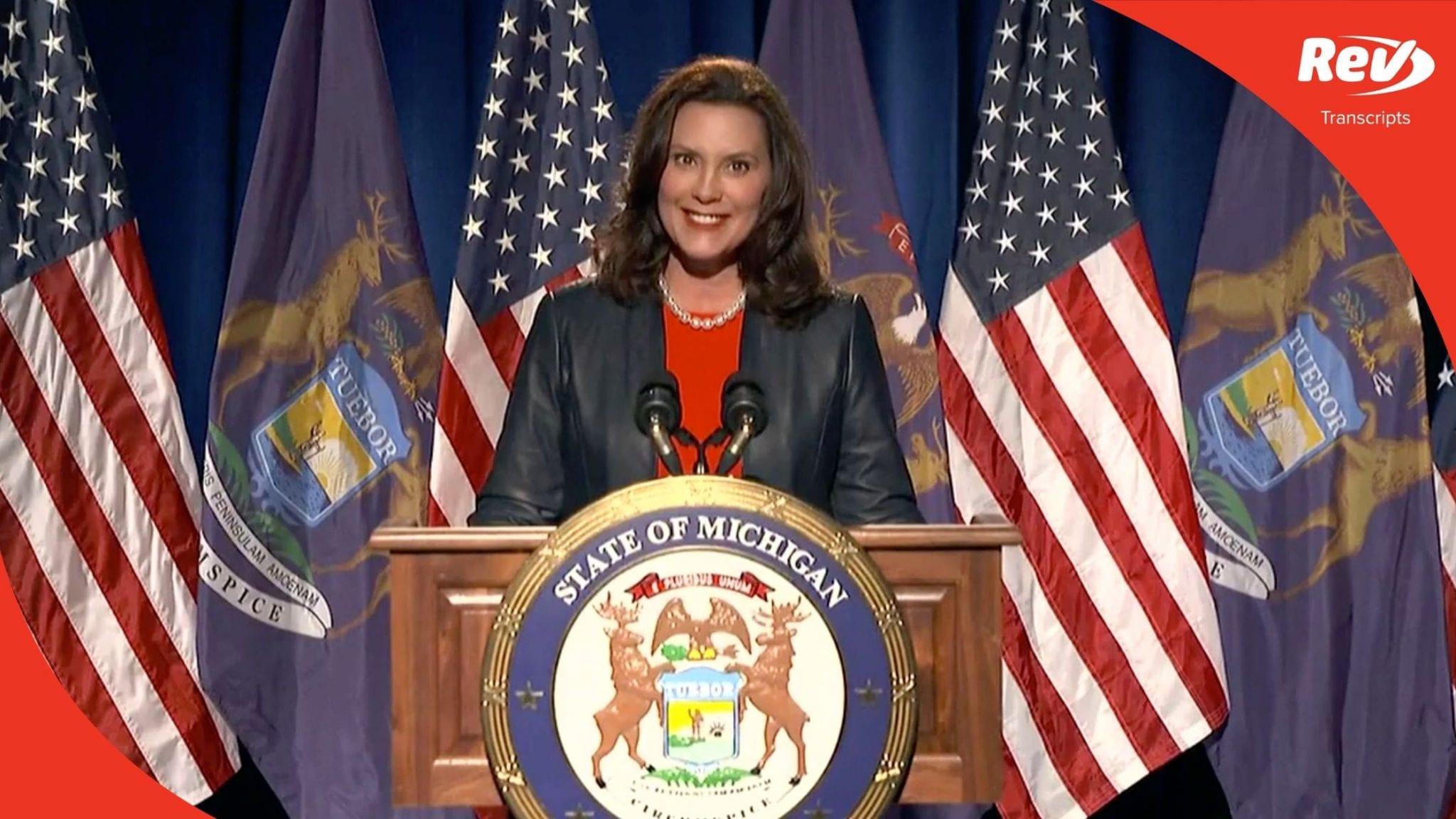 Michigan Gov. Gretchen Whitmer DNC Speech Transcript